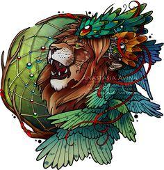 Lion's wings by quidames.deviantart.com on @DeviantArt