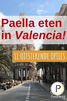 Paella eten in Valencia, het kan op vele plekken. Echter is de paella, door het toenemende toerisme, niet overal meer van even hoge kwaliteit. Omdat wij je de beste beleving van dit fantastische gerecht gunnen, hebben we 11 restaurants met uitstekende paella, verdeeld over heel Valencia, voor je op een rijtje gezet. #paella #paellaeten #valencia #spanje #spaans #spaansekeuken #spaanseten #valenciaans #paellas #paellavalenciana #vakantie #uiteten #eteninspanje #stedentrip #citytrip Valencia Restaurant, Paella Valenciana, Where To Go, Trip Planning, Places To Go, Spain, Explore, City, Beach