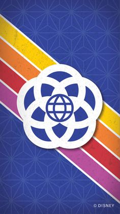 Show your #DisneySide with this retro Epcot cell phone wallpaper from Walt Disney World!