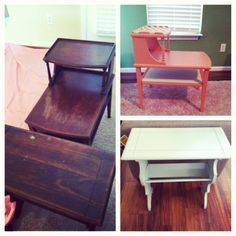 Refinished yard sale finds