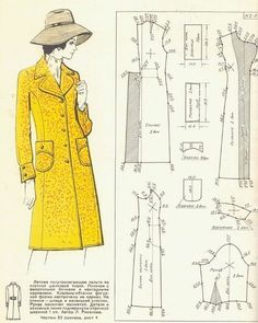 php 800 × 1 103 pixels:Coat with Shaped back seam Coat Patterns, Clothing Patterns, Dress Patterns, Sewing Clothes Women, Diy Clothes, Clothes For Women, Barbie Vintage, Vintage 1950s Dresses, Barbie Sewing Patterns