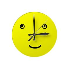Smiley clock face by www.zazzle.com~