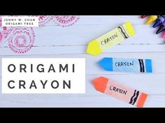 How to Make Crayons! Paper Crafts for Kids - Origami Crayon DIY - YouTube