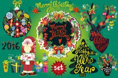 Christmas cards by marushabelle on Creative Market