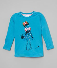 Love this Blue Girl Floral-Back Top - Infant on #zulily! #zulilyfinds