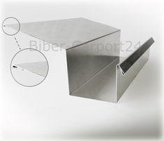 Kastenrinne 20 Alu-Profil Blech Regenrinne Kasten Rinne Aluminium Aluprofil Dach   eBay
