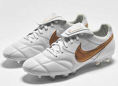 #football #soccer #futbol #nikefootball #footballboots Nike Premier 2.0 FG - White / Metallic Gold / White