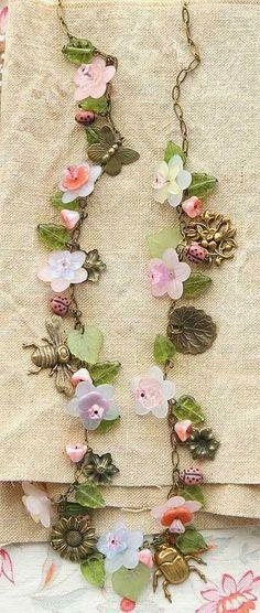 Vintage Fleur Necklace by Kaari Meng : ファッション1 - NAVER まとめ
