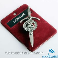 Lennox Clan Crest Kilt Pin