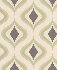 Wallpaper 60 Roll Trippy Retro Green Online Home