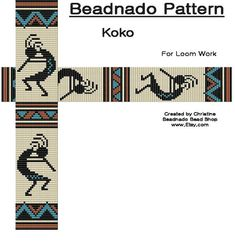Koko Bead Loom Pattern by Beadnado on Etsy