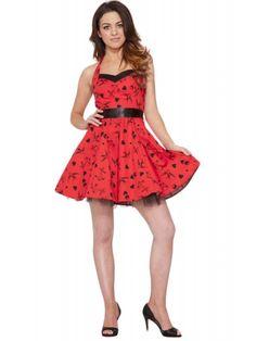 Hearts & Roses Women's Red Tattoo Mini Dress
