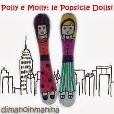 Super Easy Popsicle Dolls - bamboline da stecchini di legno dei gelati