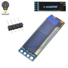 """Wavgat 0.91 дюймов OLED модуль 0.91 """"синий OLED 128x32 OLED ЖК-дисплей LED Дисплей модуль 0.91"""" IIC общаться"""