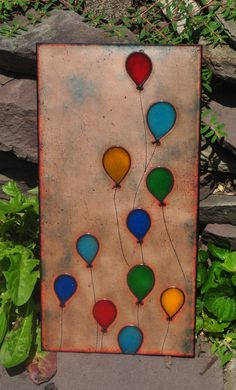 Wonderful copper, glass and enamel painted tile from Jen Bell