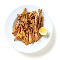 Buttermilk-Fried Ramps Recipe - Bon Appétit - I Cook Different Ramp Recipe, Appalachian Recipes, Bloomin Onion, Buttermilk Recipes, Leek Recipes, Mushroom Recipes, Yummy Recipes, Healthy Recipes, Spring Recipes