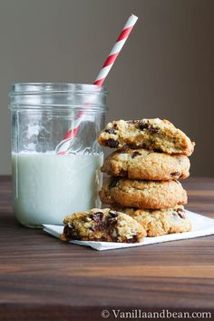Coconut Chocolate Chip Cookies | VanillaAndBean.com