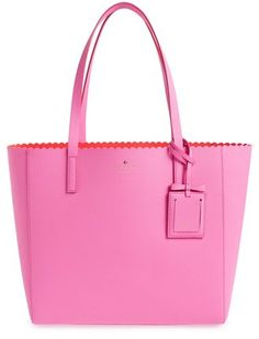 Kate Spade New York 'cape Drive - Hallie' Scalloped Leather Tote