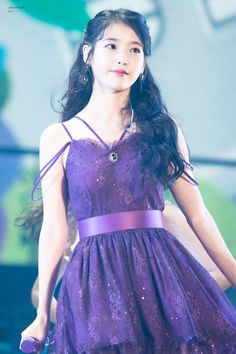 Purple Outfits, Purple Dress, Iu Moon Lovers, Iu Twitter, My Girl, Cool Girl, Kpop Girl Bands, Queen, Celebs