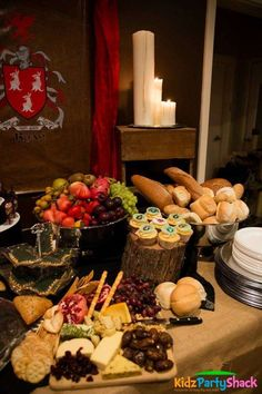 Amazing spread at a Game of Thrones birthday party! See more party ideas at CatchMyParty.com!