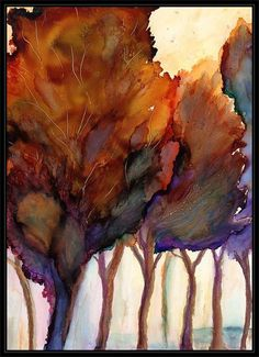ArtByCrain: Grove ~ alcohol ink on Yupo.  Another alcohol ink painter who does beautiful things with color.  I LOVE this color combination.