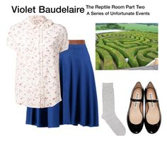 """""""Violet Baudelaire - A Series of Unfortunate Events - The Reptile Room (Part Two)"""" by starrydancer ❤ liked on Polyvore featuring Acne Studios, Pepper & Mayne, Boohoo, Dorothy Perkins and Ines de la Fressange"""