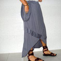 SAYURI silver grey skirt by theurbanedge on Etsy, $33.00