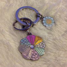 Coach Flower KeyChain Coach pastel color flower rhinestone KeyChain Coach Accessories Key & Card Holders