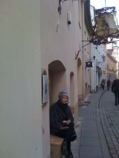 Vilnius. Awaiting customers