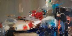 """Saatchi Art Artist Iryna Yermolova; Painting, """"Silver tray"""" #art"""
