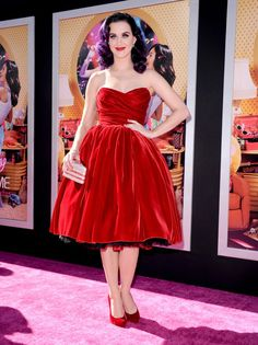 Vintage-Inspired: Katy Perry in Dolce & Gabbana at the LA Premiere of 'Katy Perry: Part of Me 3D'