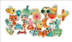 #Magnets by #Djeco 42 Magniville magneten 2 jfrom www.kidsdinge.com    www.facebook.com/pages/kidsdingecom-Origineel-speelgoed-hebbedingen-voor-hippe-kids/160122710686387?sk=wall         http://instagram.com/kidsdinge #Kidsdinge #Toys #Speelgoed