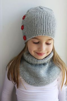 Комплект: шапочка + манишка Knitted Hats, Diy And Crafts, Pandora, Knitting, Screen Wallpaper, Fashion, Beret, Tricot, Scarves