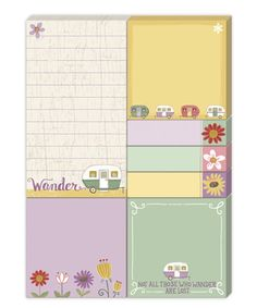 Take a look at this Wander Camper Sticky Pad Portfolio Set today!