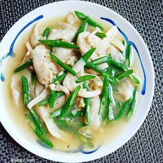 Resep masakan praktis sehari-hari Instagram Soup Recipes, Vegetarian Recipes, Cooking Recipes, Healthy Recipes, Healthy Food, Food Menu, A Food, Food And Drink, Diet Menu