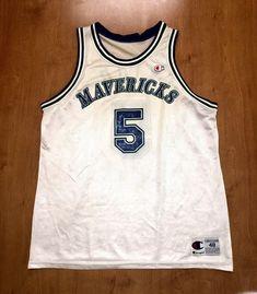 Vintage 1995 - 1998 Jason Kidd Dallas Mavericks Champion Jersey Size 48 hat  shirt mavs rolando blackman cedric ceballos berkeley nba finals 02701c936