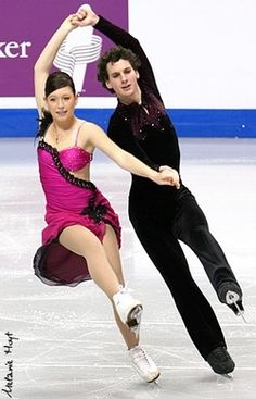 Catherine St-Onge and Alexander Browne skating the Cha Cha Congelado compulsory dance at the 2008 Junior Canadian National Championships.