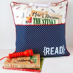 Encourage summer reading by making kids their own reading pillow complete with book pocket and carry handle.
