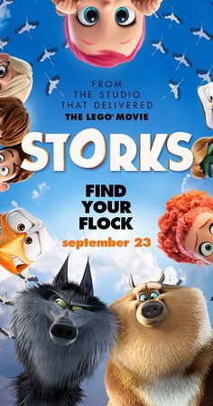 Directed by Nicholas Stoller, Doug Sweetland.  With Andy Samberg, Jennifer Aniston, Ty Burrell, Kelsey Grammer. Storks have moved on from delivering babies to packages. But when an order for a baby appears, the best delivery stork must scramble to fix the error by delivering the baby.