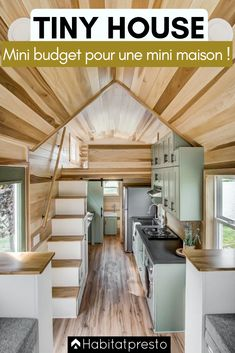 Clover, a 24 ft. x ft. tiny house on wheels designed and built by Modern Tiny Living out of Columbus, Ohio. Clover, a 24 ft. x ft. tiny house on wheels designed and built by Modern Tiny Living out of Columbus, Ohio. Tiny House Family, Modern Tiny House, Tiny House Living, Tiny House Plans, Tiny House Design, Tiny House On Wheels, Small Living, Tiny Home Floor Plans, Tiny House Layout