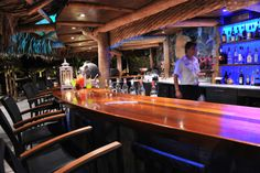 Baoase Bar by night at the Baoase Luxury Resort Curacao