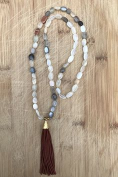 natural multicolor moon stone necklace