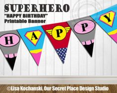 4 Girl Superhero Logo Stickers Superhero Girl por OurSecretPlace