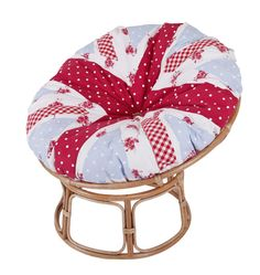 Rule Britannia - This patriotic papasan chair is handmade. God Save The Queen! Papasan Cushion, Papasan Chair, Rule Britannia, Save The Queen, Light Oak, Soft Furnishings, Upholstery, Cushions, Frames