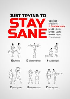 Stay Sane Workout by Tabata, Kickboxing Workout, Darbee Workout, Workout Videos, Full Body Workout Routine, Home Exercise Routines, Fitness Workout For Women, Yoga Fitness, Easy Fitness
