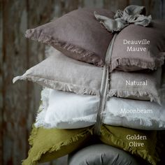 Gorgeous fringed linen cushions by Cox and Cox.