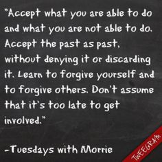 Tuesdays with Morrie! :)