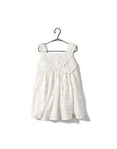 swiss dot dress with appliqué bow