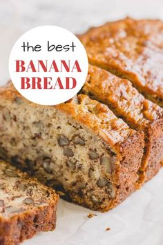 This banana bread recipe has been my go-to since 2013! And yes, I tried other recipes too, but I always come back to this one. I wouldn't be lying if I said I make this quick bread recipe almost weekly and it never lasts more than 3 days! #bananabreadrecipeeasy #bananabreadrecipemoist #bananabreadrecipe Quick Bread Recipes, Banana Bread Recipes, Breakfast Recipes, Dessert Recipes, Desserts, Cupcake Recipes, Dinner Recipes, Shinee, Moist Banana Bread
