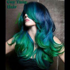 Mermaid hair by Guy Tang
